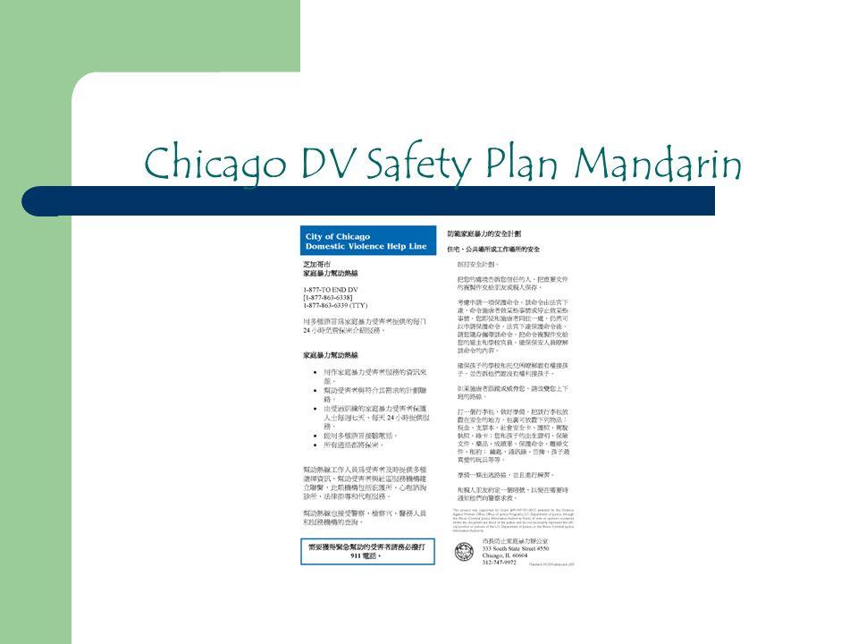 Chicago DV Safety Plan Mandarin