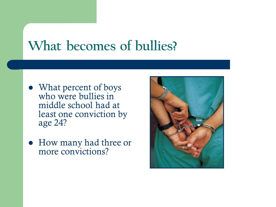 What becomes of bullies