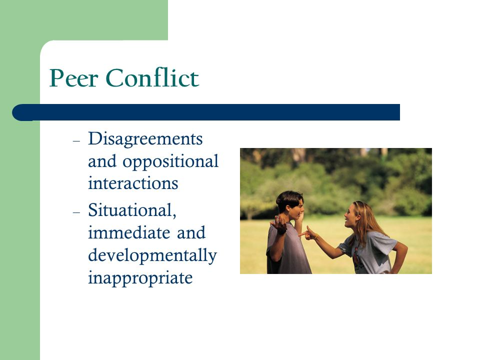Peer Conflict Disagreements and oppositional interactions
