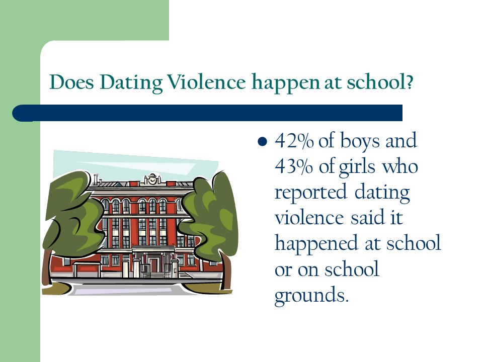 Does Dating Violence happen at school