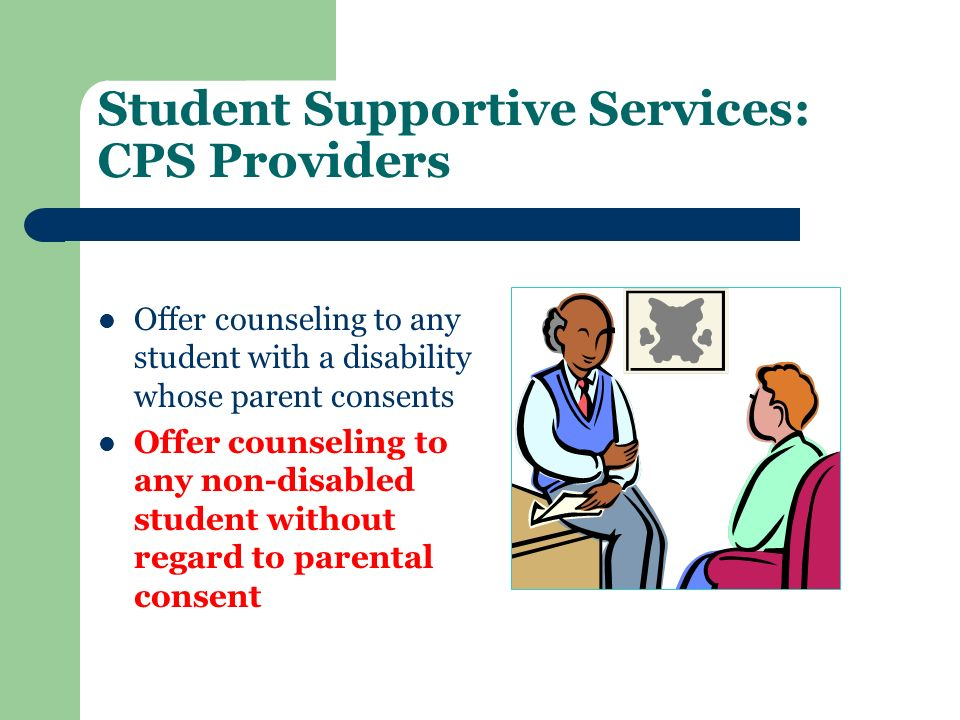 Student Supportive Services: CPS Providers