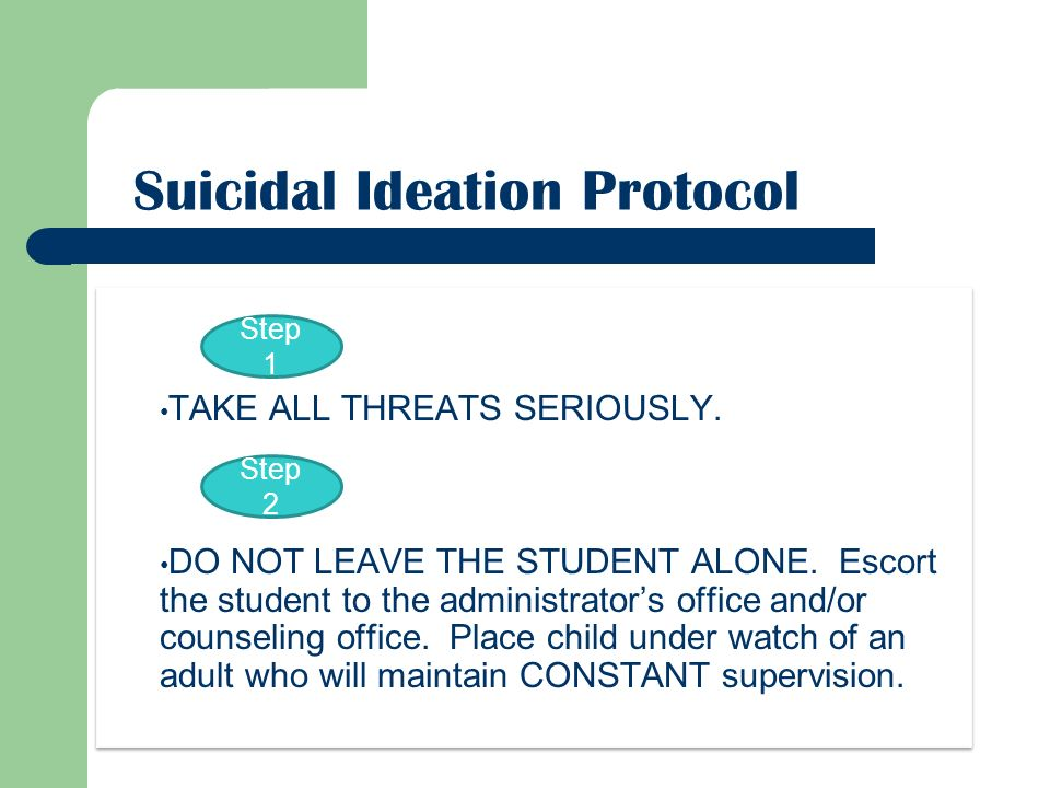 Suicidal Ideation Protocol