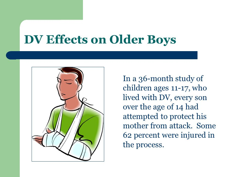 DV Effects on Older Boys