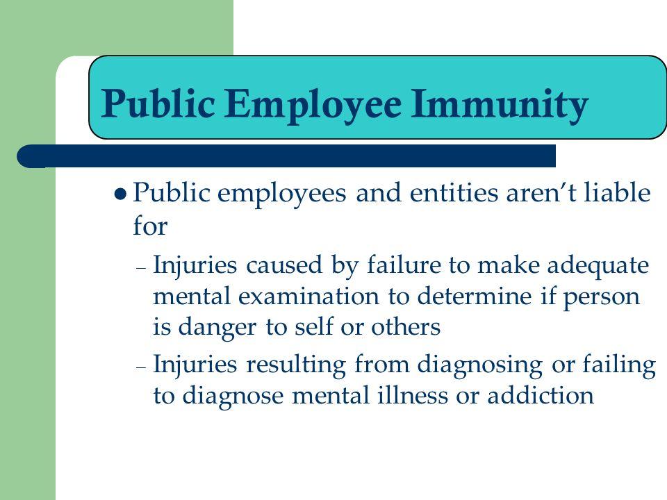 Public Employee Immunity