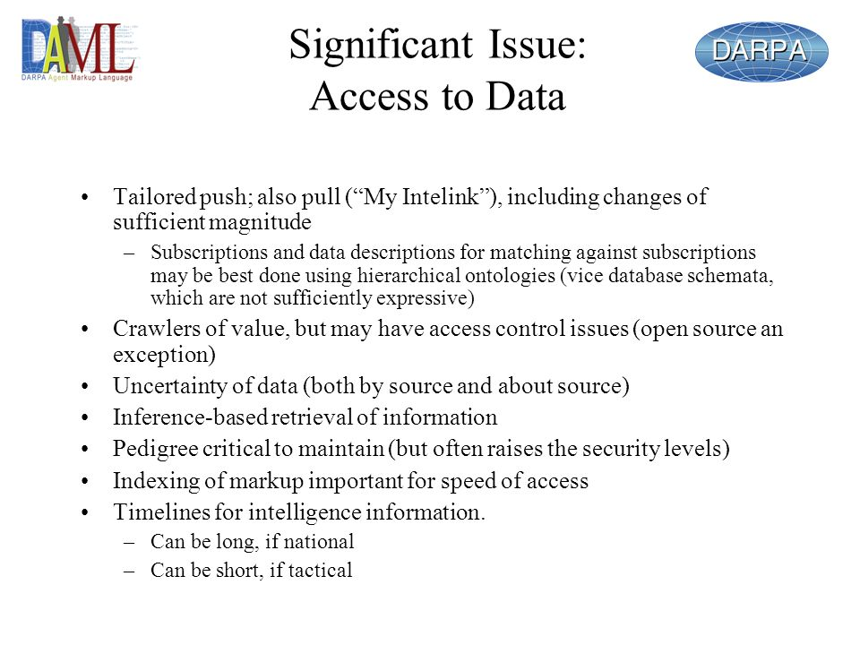 Significant Issue: Access to Data