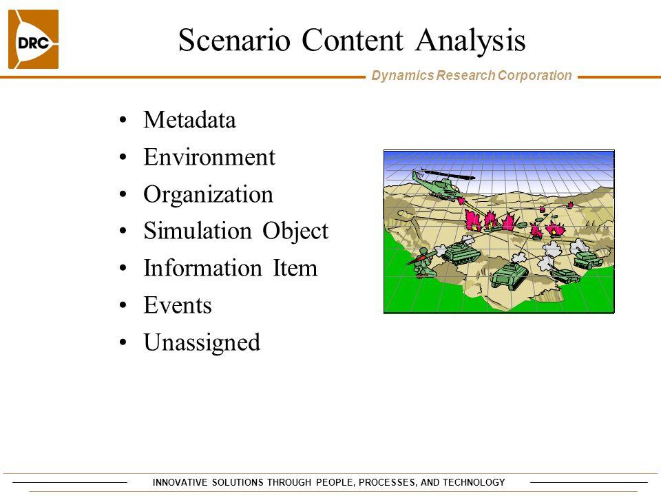 Scenario Content Analysis