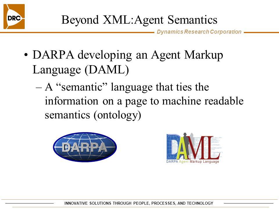 Beyond XML:Agent Semantics