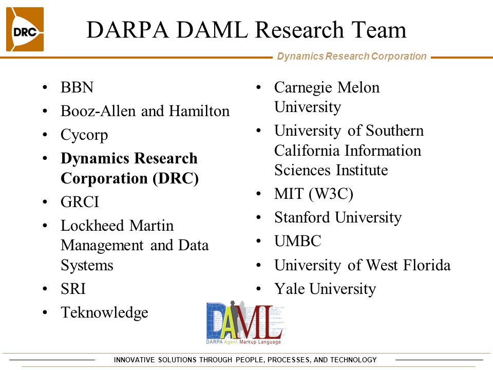 DARPA DAML Research Team