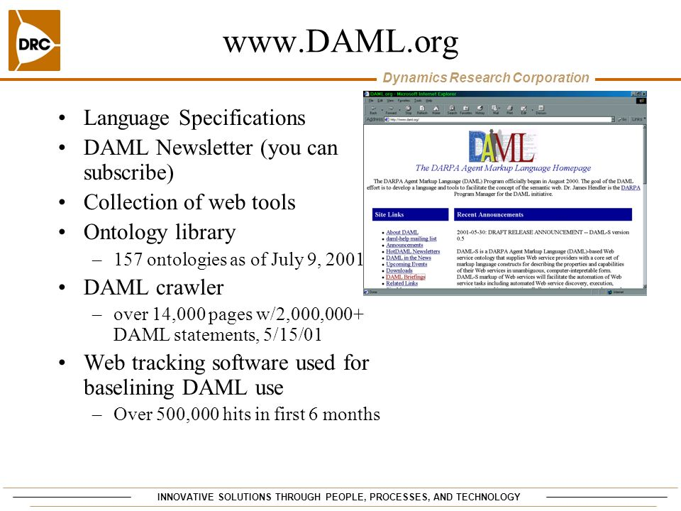 www.DAML.org Language Specifications