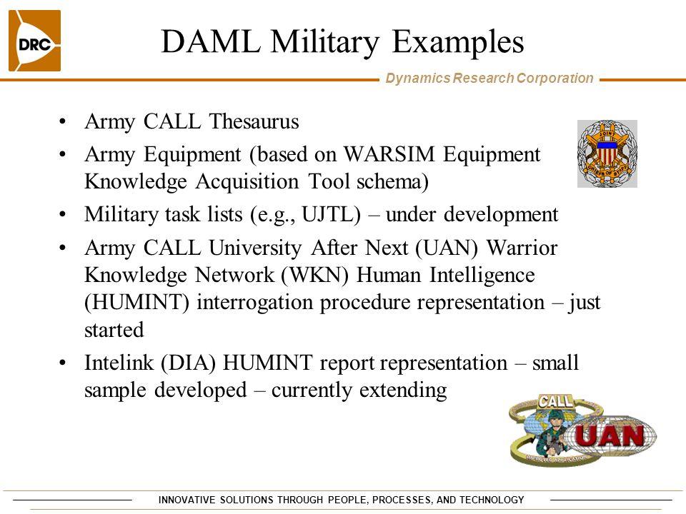 DAML Military Examples