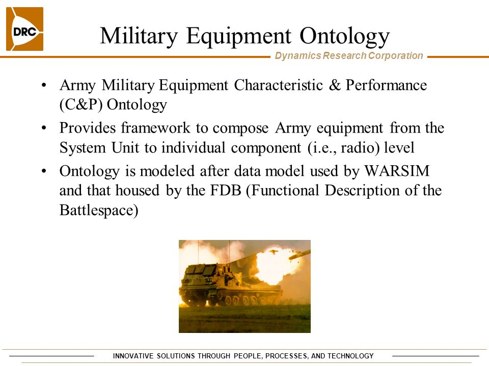 Military Equipment Ontology