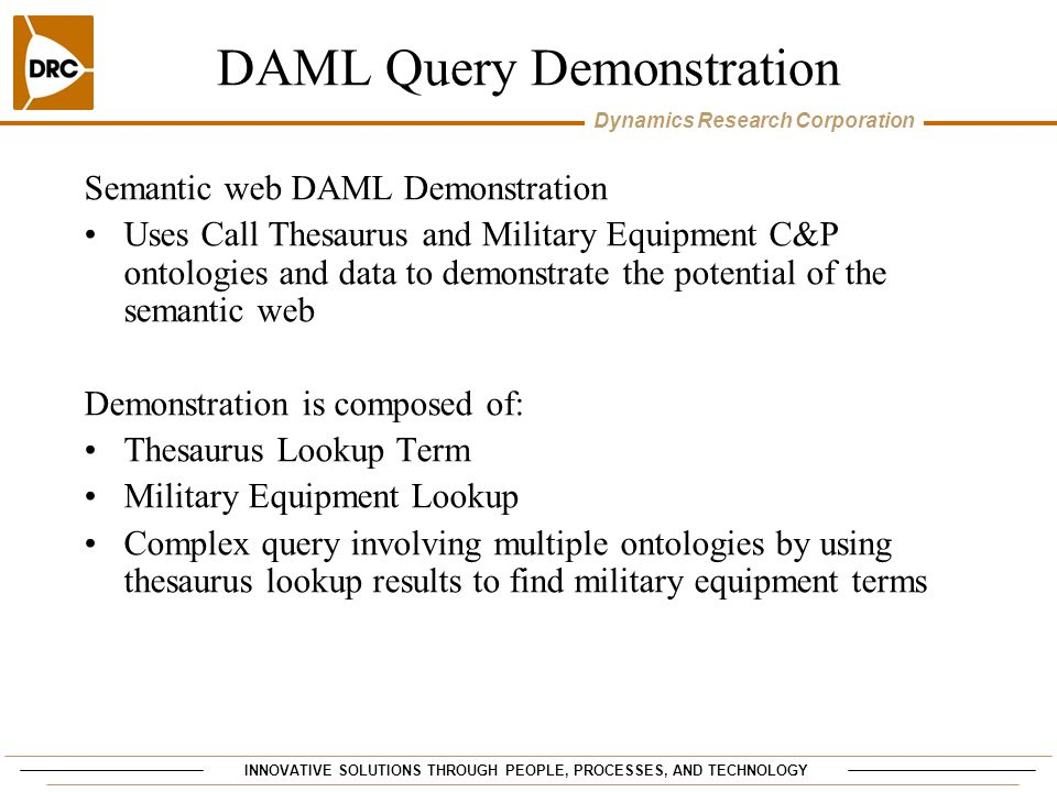 DAML Query Demonstration