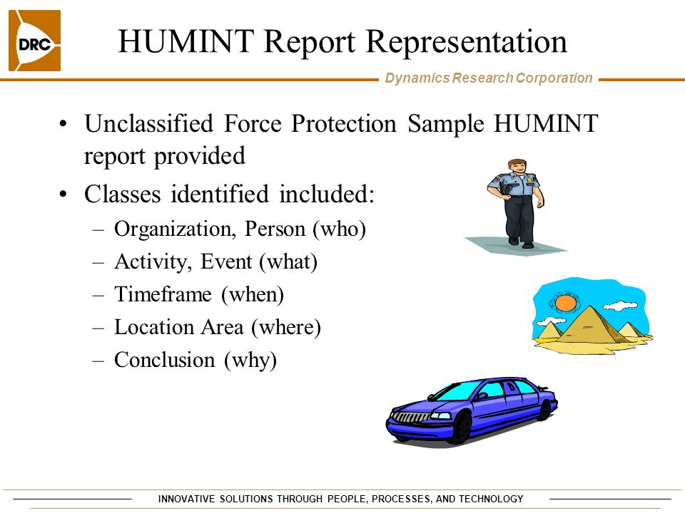 HUMINT Report Representation