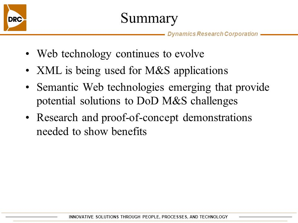 Summary Web technology continues to evolve