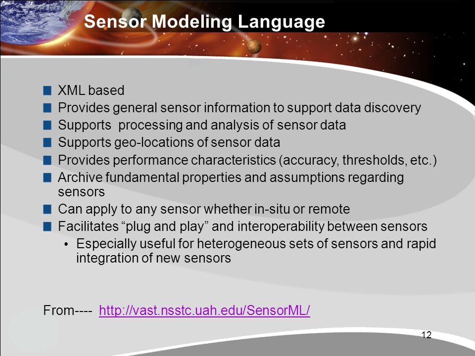 Sensor Modeling Language