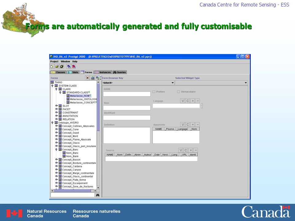 Forms are automatically generated and fully customisable