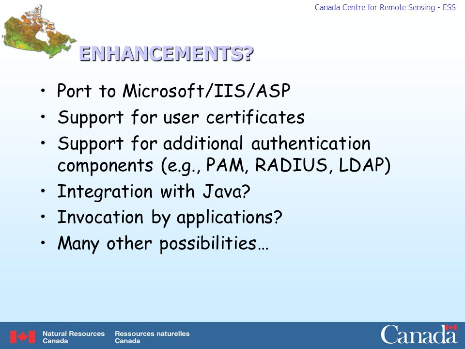 ENHANCEMENTS Port to Microsoft/IIS/ASP Support for user certificates