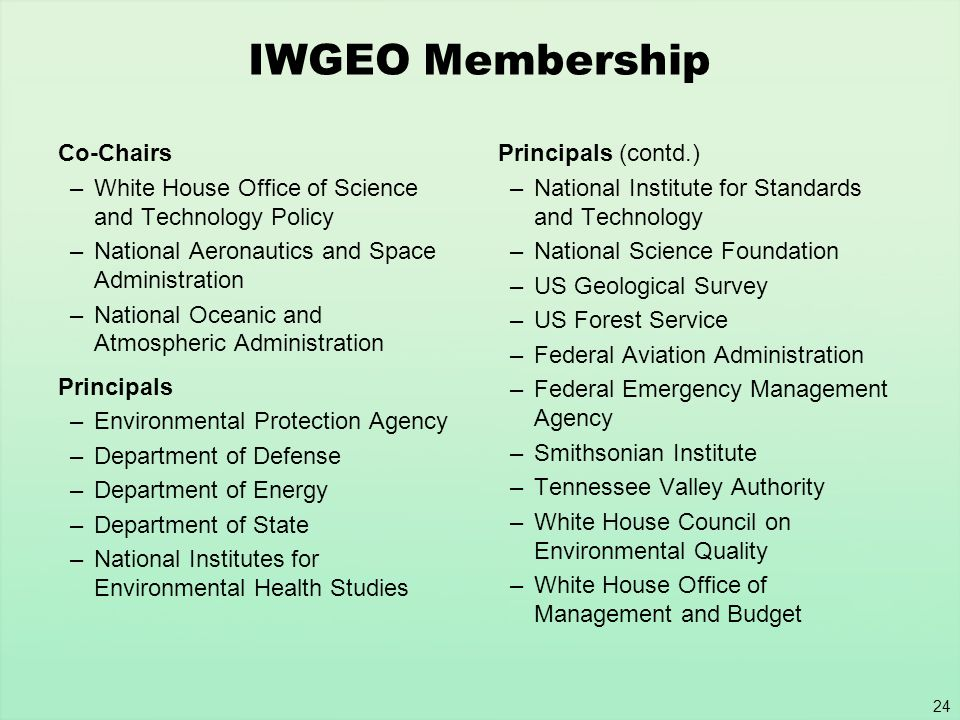 IWGEO Membership Co-Chairs