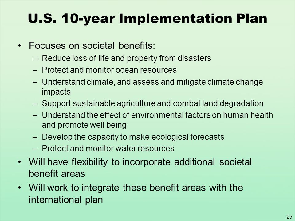 U.S. 10-year Implementation Plan
