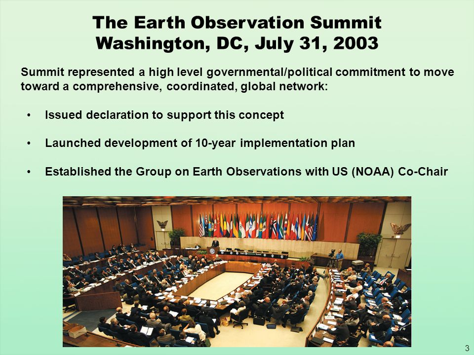 The Earth Observation Summit