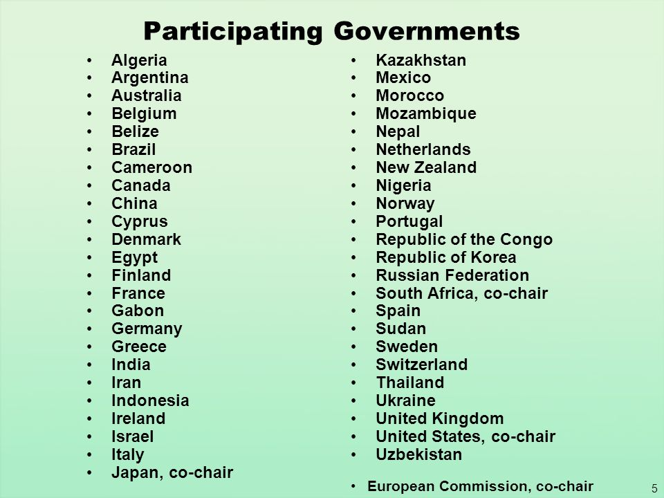Participating Governments