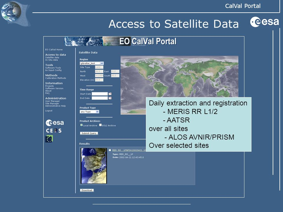 Access to Satellite Data