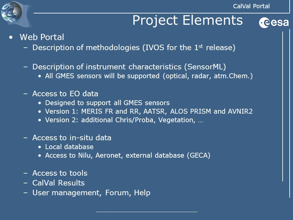 Project Elements Web Portal