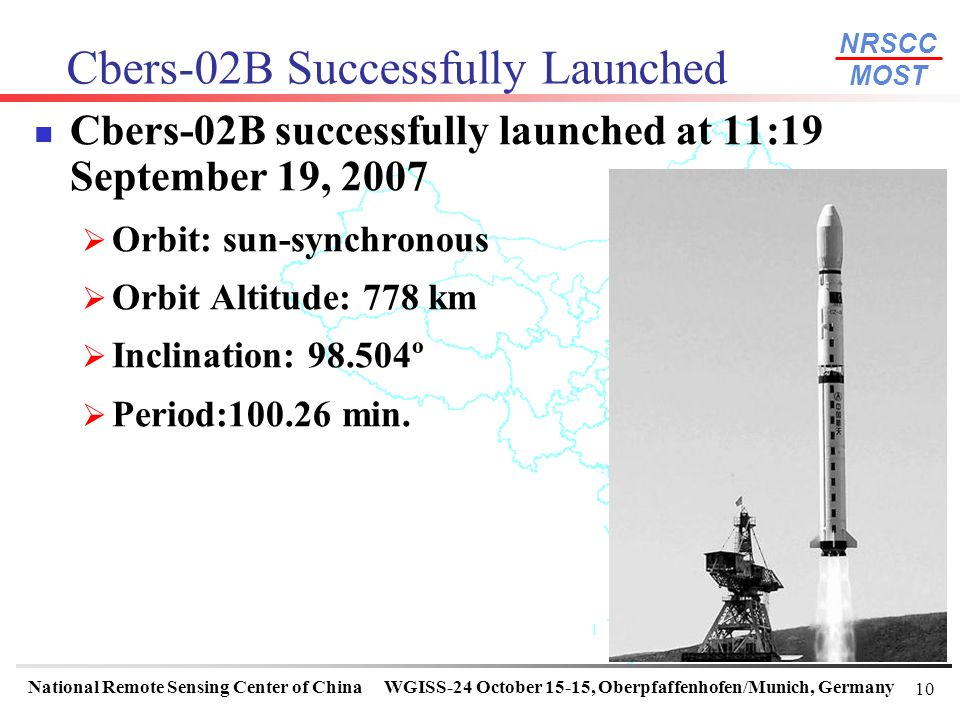 Cbers-02B Successfully Launched