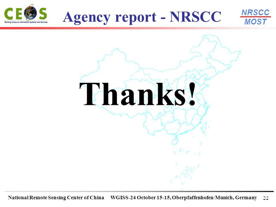 Agency report - NRSCC Thanks! 22