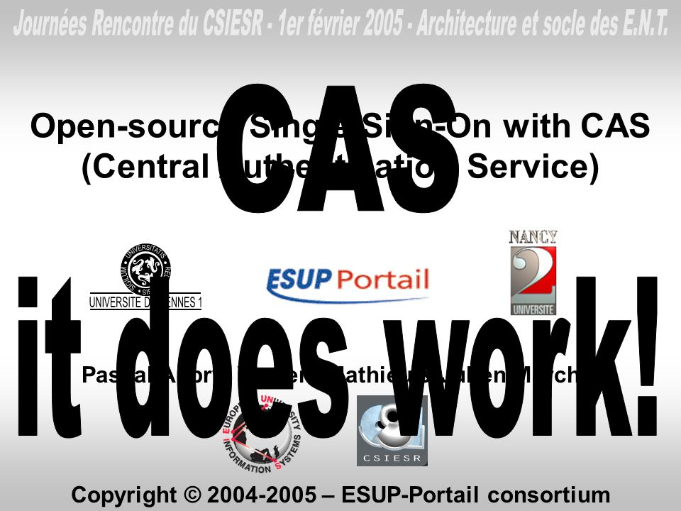 Open-source Single Sign-On with CAS (Central Authentication Service)