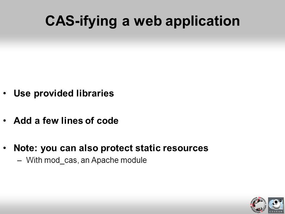 CAS-ifying a web application