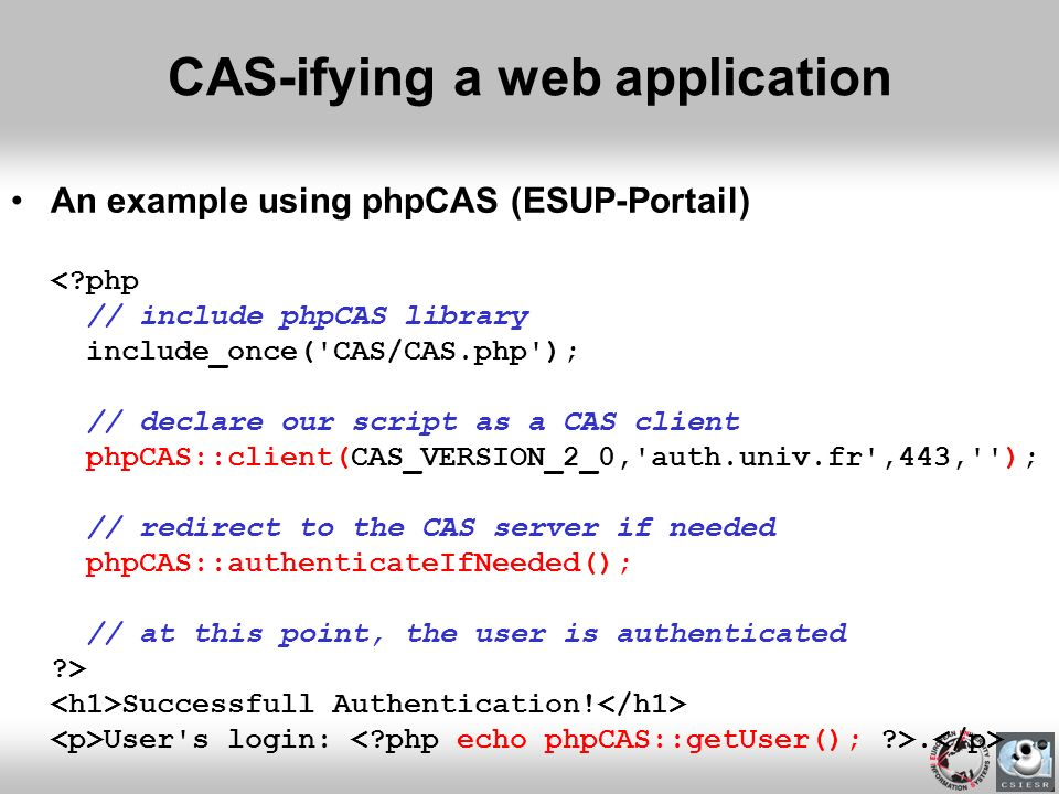 CAS-ifying a web application