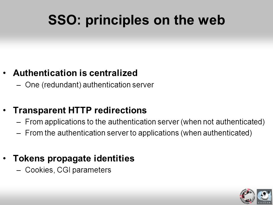 SSO: principles on the web
