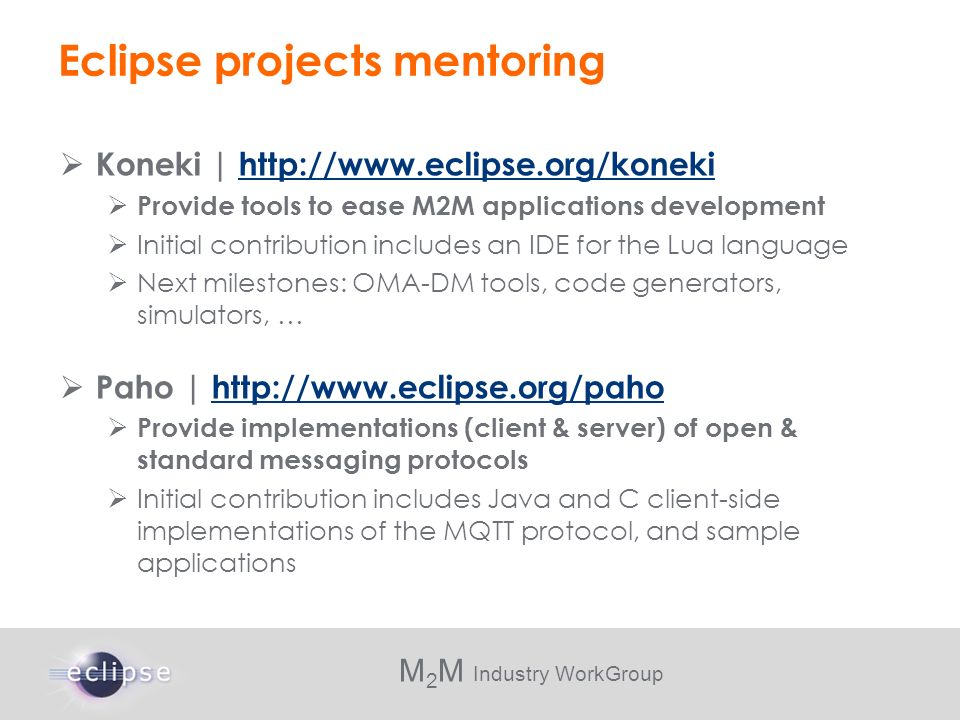 Eclipse projects mentoring