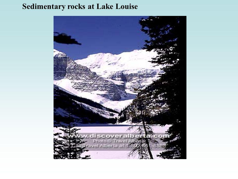 Sedimentary rocks at Lake Louise