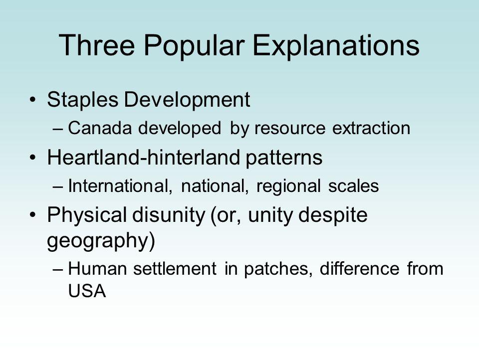 Three Popular Explanations