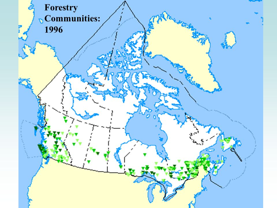 Forestry Communities: 1996