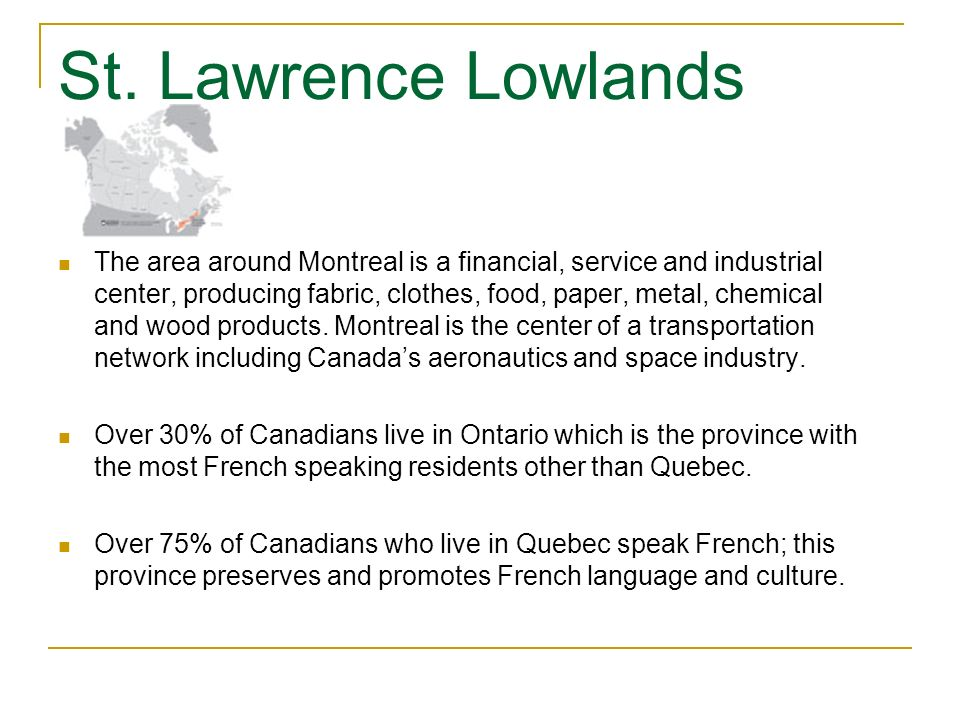 St. Lawrence Lowlands