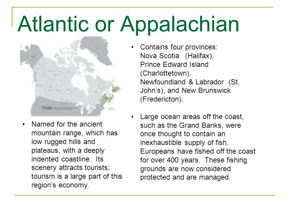 Atlantic or Appalachian