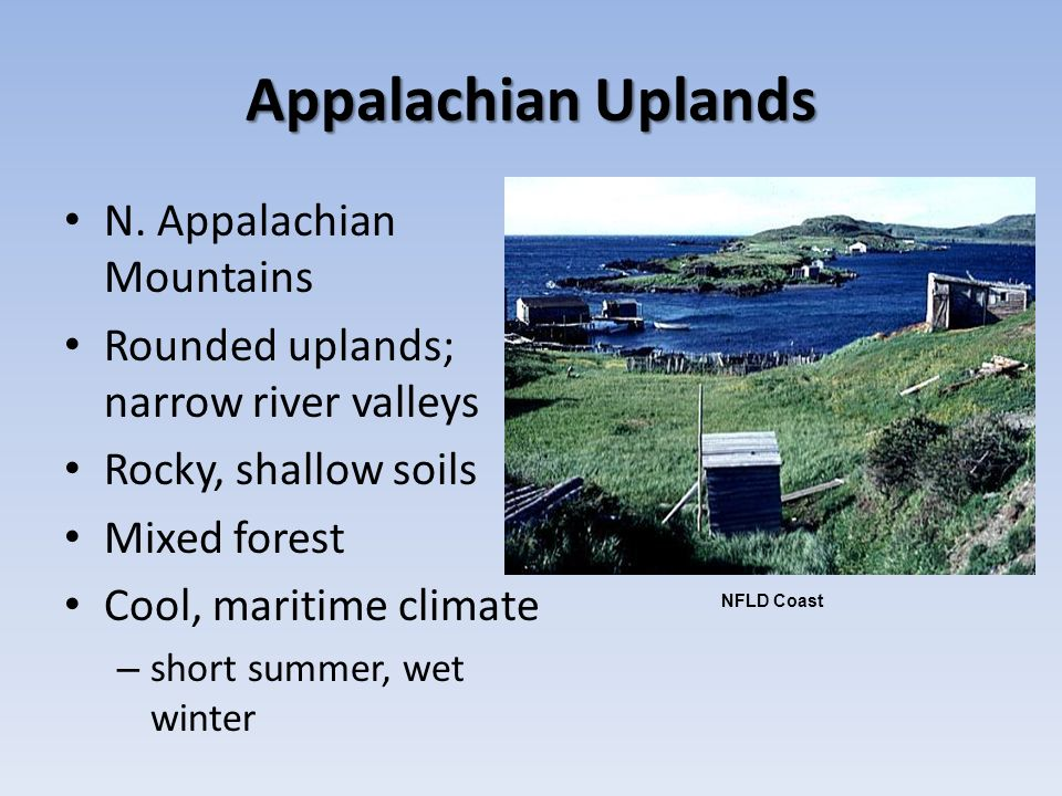 Appalachian Uplands N. Appalachian Mountains
