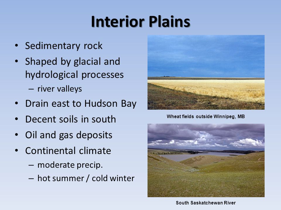 Interior Plains Sedimentary rock