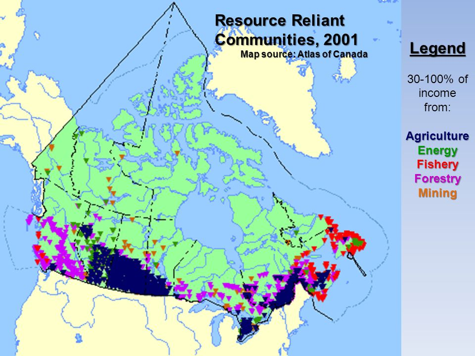 Resource Reliant Communities, 2001