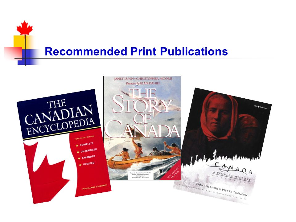 Recommended Print Publications