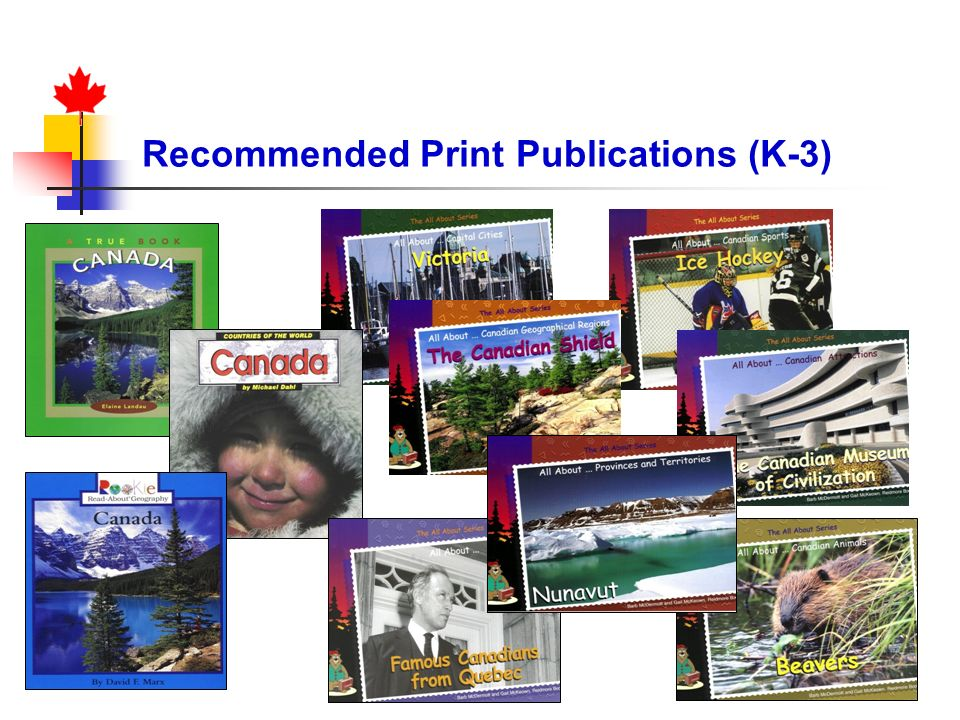 Recommended Print Publications (K-3)