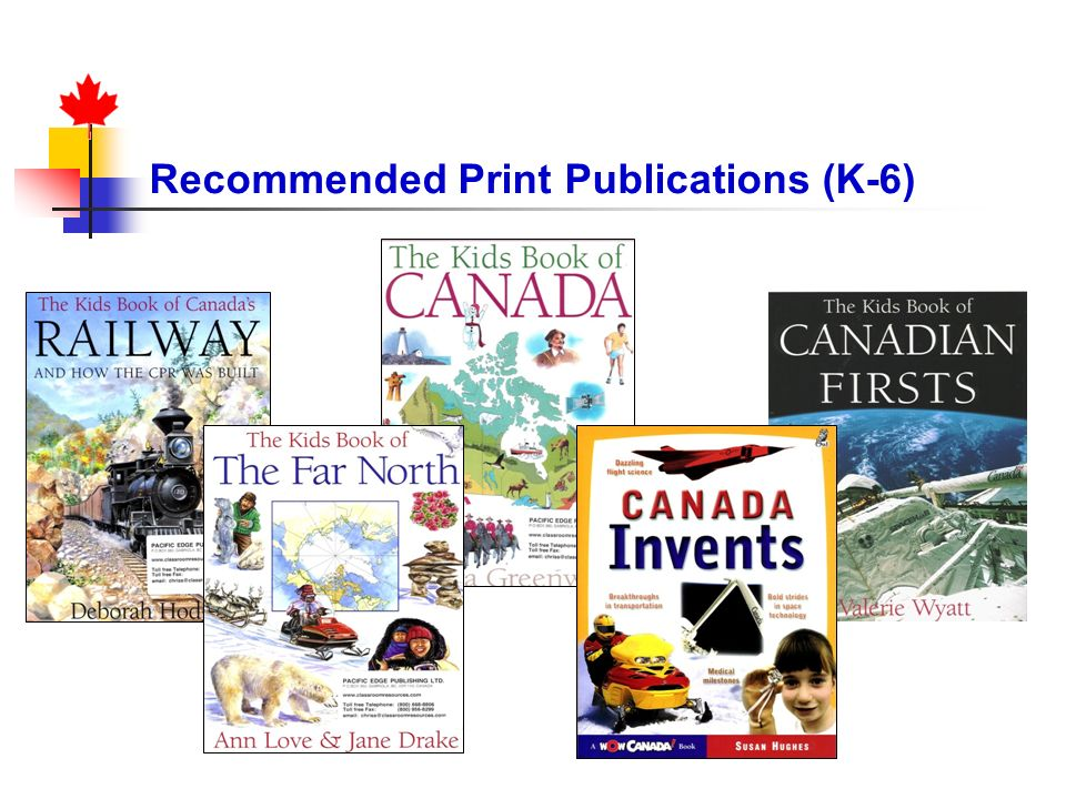 Recommended Print Publications (K-6)