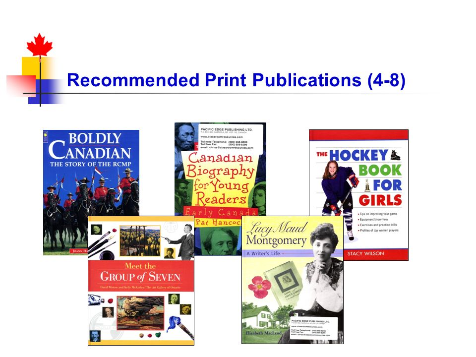Recommended Print Publications (4-8)