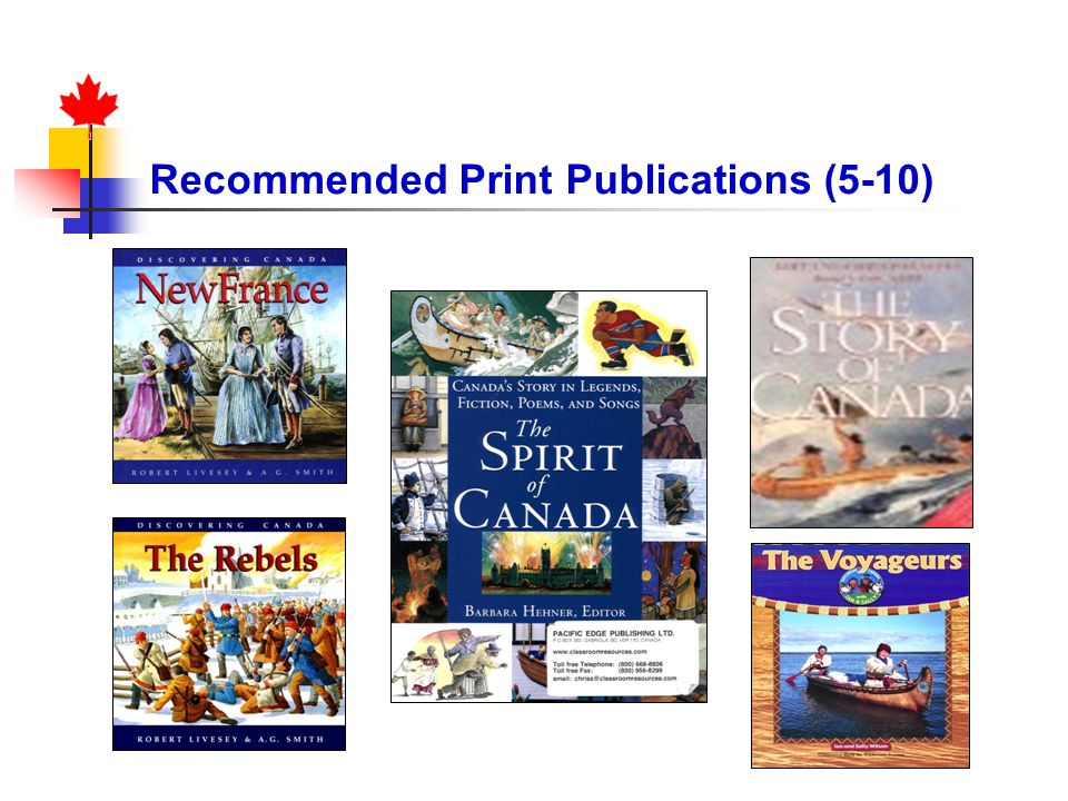 Recommended Print Publications (5-10)