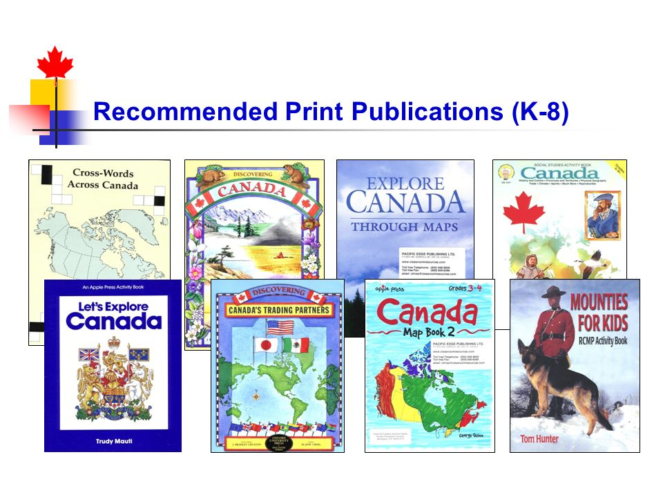 Recommended Print Publications (K-8)