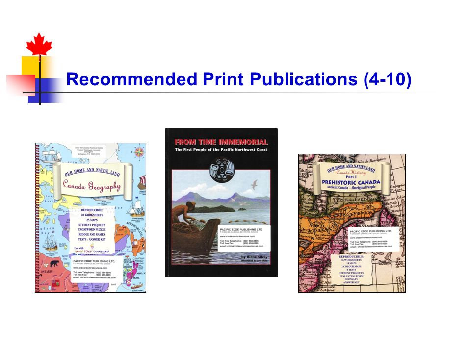 Recommended Print Publications (4-10)