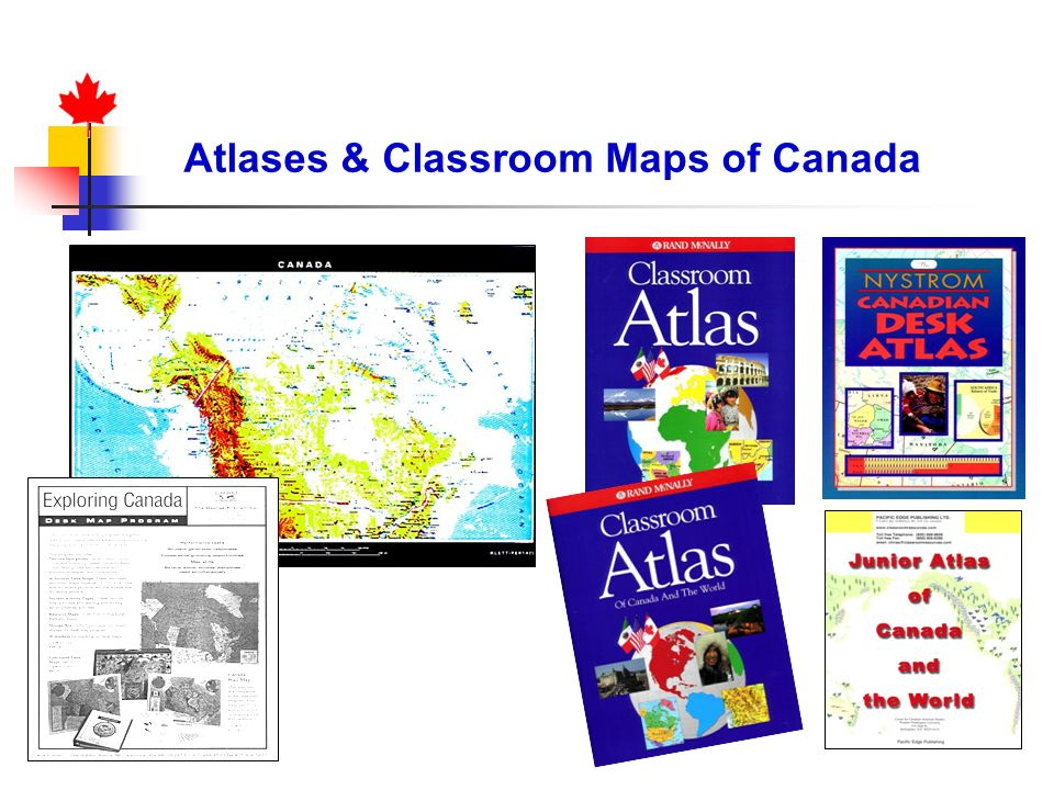 Atlases & Classroom Maps of Canada